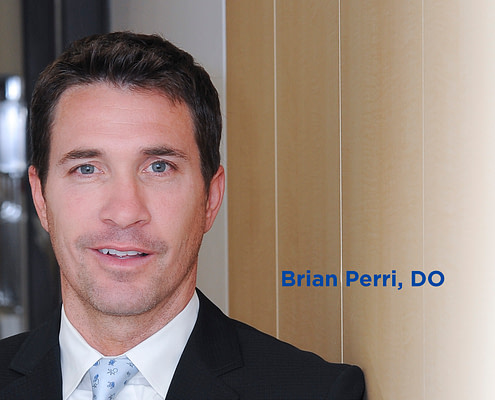 Headshot of doctor Brian Perri who benefits from using bundled payment programs with his patients.